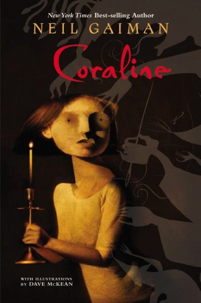 Coraline cover art by Dave McKean